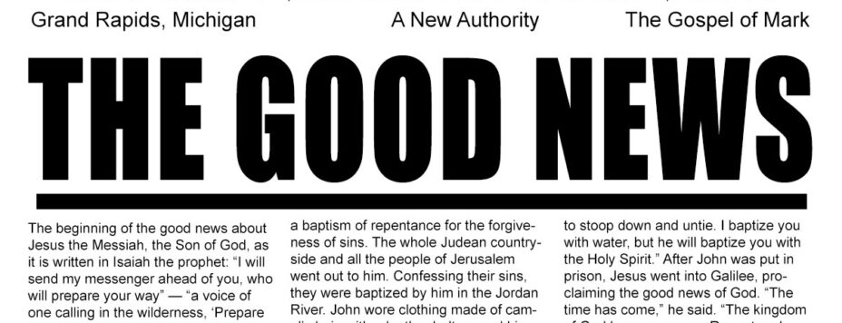The Good News - A New Authority
