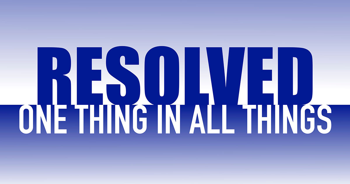 Resolved: One Thing in All Things